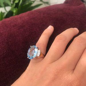 Jewelry - Aquamarine Ring size 5.5/6